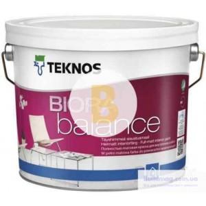 Краска интерьерная акрилатная TEKNOS BIORA Balance база 1 мат белый 0,9л