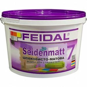 Краска акриловая Feidal Innenlatex Seidenmatt прозрачная шелковистый мат база под тонировку 1л