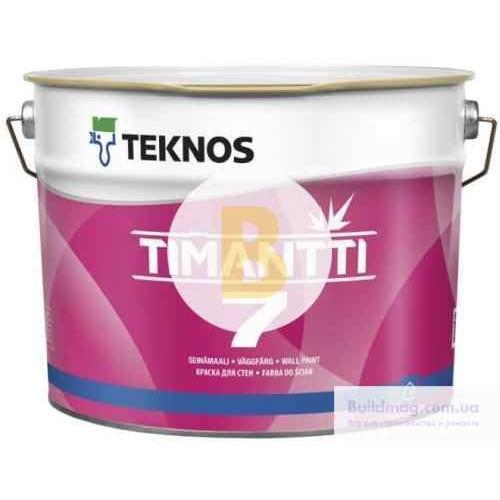 Краска интерьерная акрилатная TEKNOS TIMANTTI 7 база 1 мат белый 0,9л
