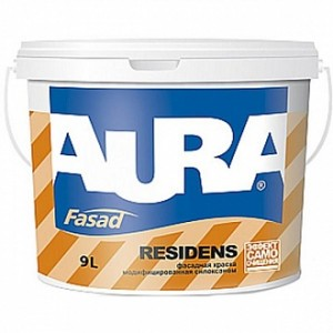 Краска Aura Luxpro Residens белый 9л 12,3кг