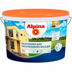 Краска фасадная силиконовая водоэмульсионная Alpina Силиконовая для еклюзивних фасадов В3 мат база под тонировку 0,35л
