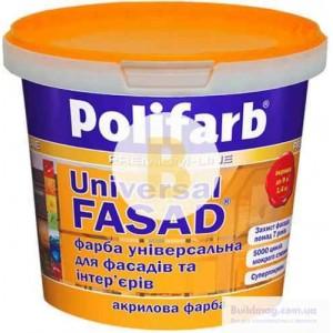 Краска акриловая Polifarb Универсалфасад мат белый 1.4кг