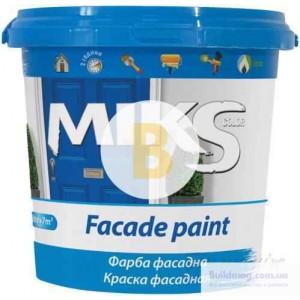 Краска акриловая водоэмульсионная MIKS Color фасадная мат белый 1л 1,4кг