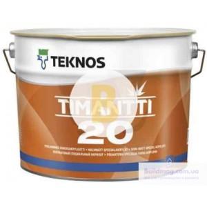Краска интерьерная акрилатная TEKNOS TIMANTTI 20 база 1 полумат белый 0,9л