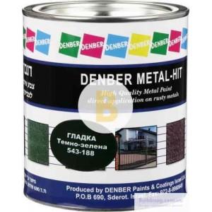 Краска Denber Metal Hit гладкая темно-зеленый глянец 0,75л