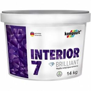 Краска Kompozit Interior 7 (база А) белый 1,4кг