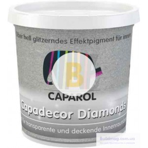 Глиттер Caparol Capadecor Diamоnds 75 г серебристый