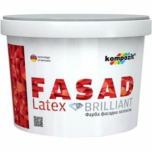 Краска Kompozit FASAD Latex белый 0,9 л 1,4 кг