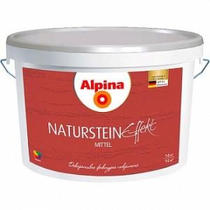 Краска декоративная Effect Naturstein mittel Alpina белый 7кг