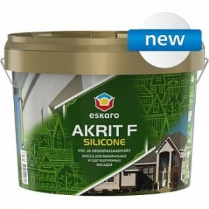 Краска Eskaro Akrit Fasad Silicone белый 9л 10,8кг