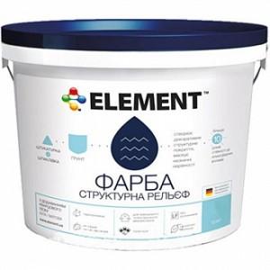 Краска структурная Рельеф Element белый 15 л 15кг