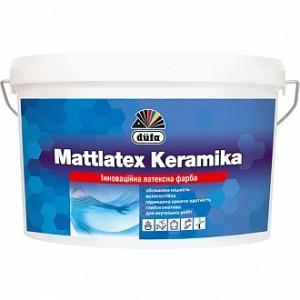 Краска водоэмульсионная Dufa Mattlatex Keramika шелковистый мат белый 3,5кг