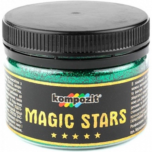 Глиттер MAGIC STARS Kompozit изумруд