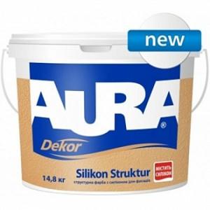 Краска акриловая Aura Dekor Silikon Struktur мат 2.5л 3.7кг