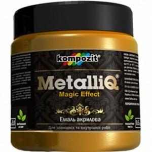 Эмаль акриловая MetalliQ Kompozit серебряный 0,43 л
