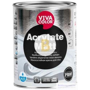 Краска Vivacolor Acrylate Matt, база А белый 0,9 л 1,2 кг