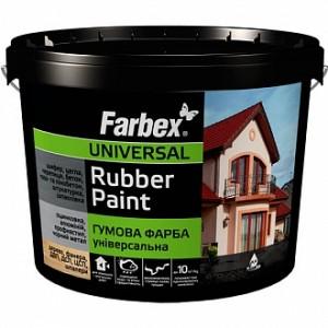 Краска Farbex резиновая RAL9004 черный 1,2кг
