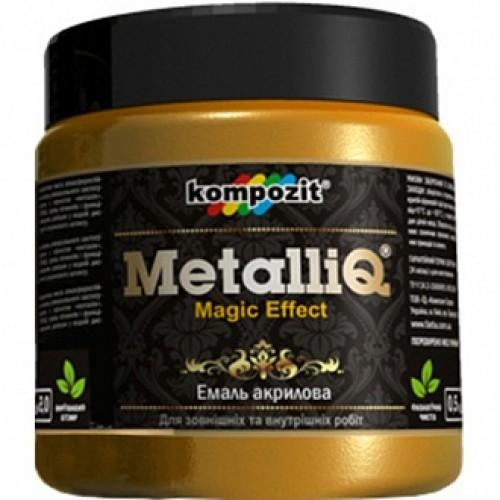 Эмаль акриловая MetalliQ Kompozit римское золото 0,43 л