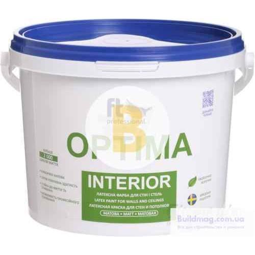 Краска латексная водоэмульсионная FT Professional Optima Interior Base A глубокий мат белый 1л