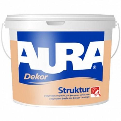 Краска структурная Dekor Struktur Aura белый 2,5 л 3,7кг