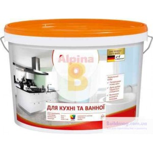 Краска Alpina Для кухня и ванной В1 белый 1л