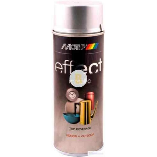 Аэрозольная краска Motip Deco Effect с эффектом металлик серебряный 400 мл