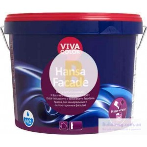 Краска Vivacolor Hansa Fasade, база LC база под тонировку 2,7л 4,1кг