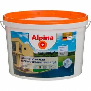 Краска Alpina для эклюзивных фасадов В1 белый 10л