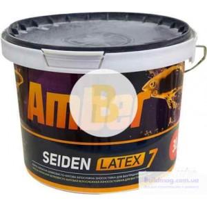 Краска латексная Amber SEIDEN LATEX 7 TR шелковистый мат база под тонировку 3л