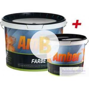 Краска латекснаяводоэмульсионная Amber Farbe ECO 10 + 5 л в подарок мат белый 15л 10 + 5 л