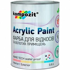 Краска Kompozit для откосов и влажных помещений белый 0,8л