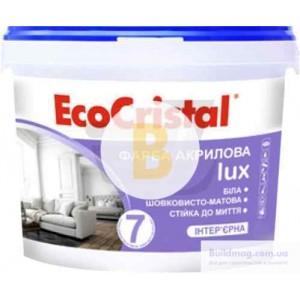 Краска акриловая латексная EcoCristal Люкс 7 ИР-237 мат 1л