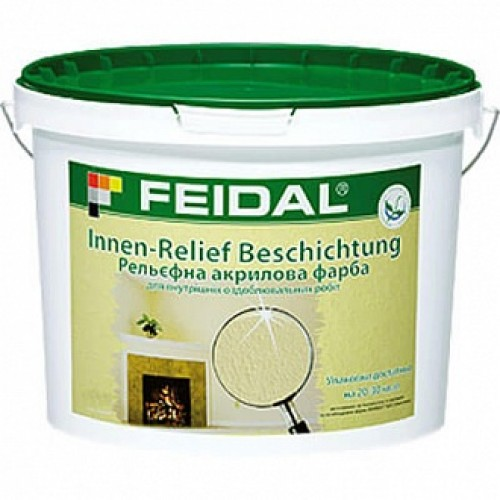 Структурная краска Feidal Innen Relief Beschichtung белый 10 л