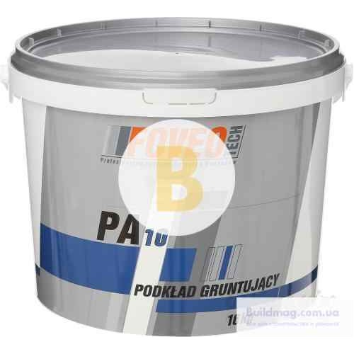 Грунтовочная краска акриловая водоэмульсионная Foveo Tech РА10 мат белый 16кг