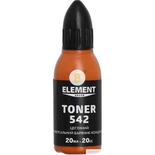 Колер Element Decor Toner кирпичный 20 мл