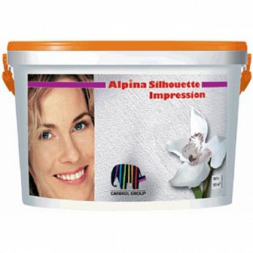 Краска структурная Silhouette Impression Effekt Alpina белый 10 л