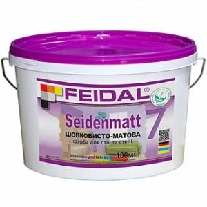 Краска акриловая Feidal Innenlatex Seidenmatt шелковистый мат белый 10л