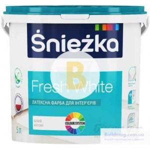 Краска латексная водоэмульсионная Sniezka Fresh White мат белый 5л 7кг