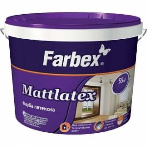 Краска латексная водоэмульсионная Farbex Mattlatex мат белый 4,2кг