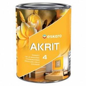 Краска Eskaro Akrit 4 белый 0,95л 1,37кг