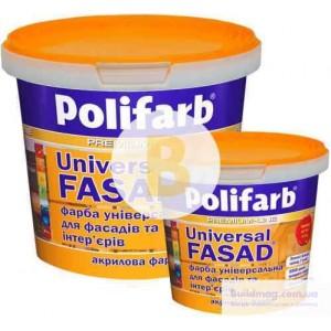 Краска акриловая Polifarb Универсалфасад мат белый 14 + 4,2 кг