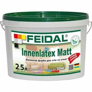 Краска латексная Feidal Innenlatex Matt мат белый 1л