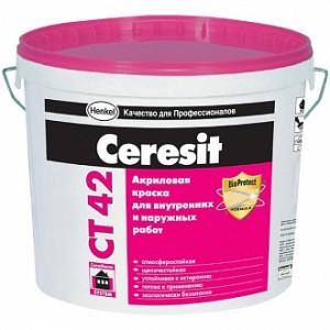 Краска Ceresit CT 42 База А белый 3л 4,2кг