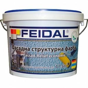 Структурная краска Feidal Fassad-Relief economic белый 10 л