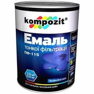 Эмаль Kompozit алкидная ПФ-115 защитный глянец 0,9кг