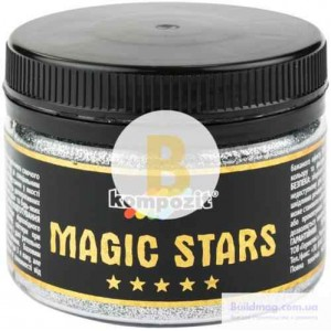 Глиттер MAGIC STARS Kompozit серебряный