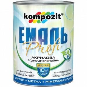 Эмаль Kompozit акриловая Profi белый шелковистый мат 0,3л