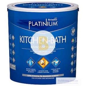 Краска латексная Sniezka Platinium KITCHEN-BATH для помещений с повышенной влажностью полумат белый 1л 1.2кг