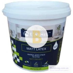 Краска латексная UniSil Matt latex мат белый 1,4кг