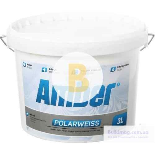 Краска Amber Amber Polarweiss белый 3л